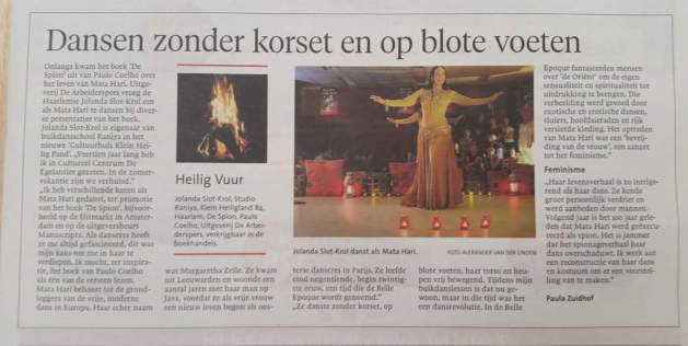 19 oktober 2016 in het Haarlems Dagblad