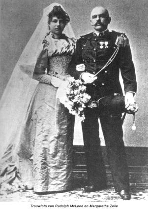 Trouwfoto van Rudolph McLeod en Margaretha Zelle