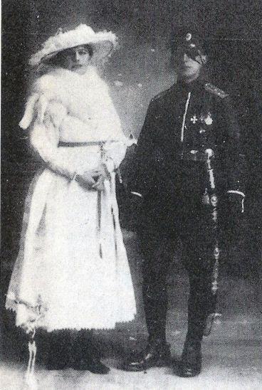 Mata-Hari met haar grote liefde Vadime de Massloff